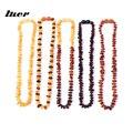 LUER 16 цветов янтарный браслет для прорезывания зубов/ожерелье для ребенка/необработанный Янтарный свисающий высококачественный Сертифицир...