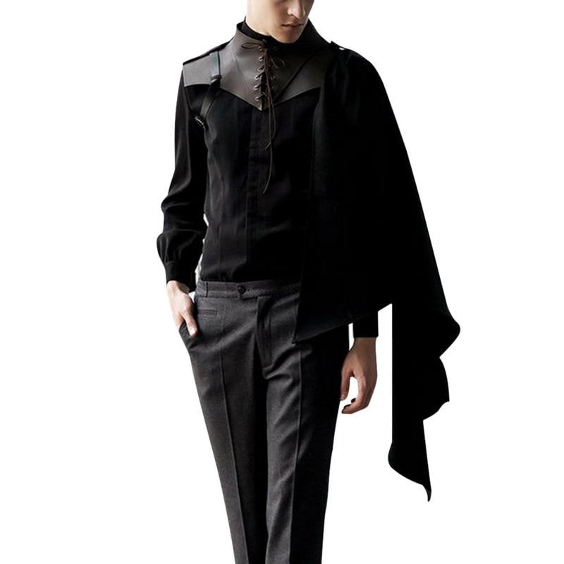 SHUJIN Medieval Men Costumes Accessories Gothic   Vest Knight Shawl Cape Women Renaissance Cosplay Shawls Vests