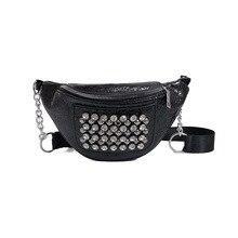 2019 Fashion Women Waist Bag Fanny Pack PU Leather Belt Unisex Pu Packs Chest
