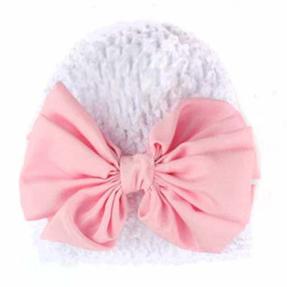 Sombreros de bebé con Bowknot bebé recién nacido gorro de punto bebé niña Bowknot ahueca hacia fuera la cabeza del bebé gorra de los niños y 8