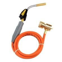 Паяльный сварочный фонарь самозажигание 1,5 м шланг Cga600 соединение газовый фонарь ручной пропан горелка для МАПП газа