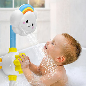 Bath Toys for Kids Baby Water Game Clouds Model Faucet Shower Water Spray Toy For Children Squirting Sprinkler Bathroom Baby Toy(China)