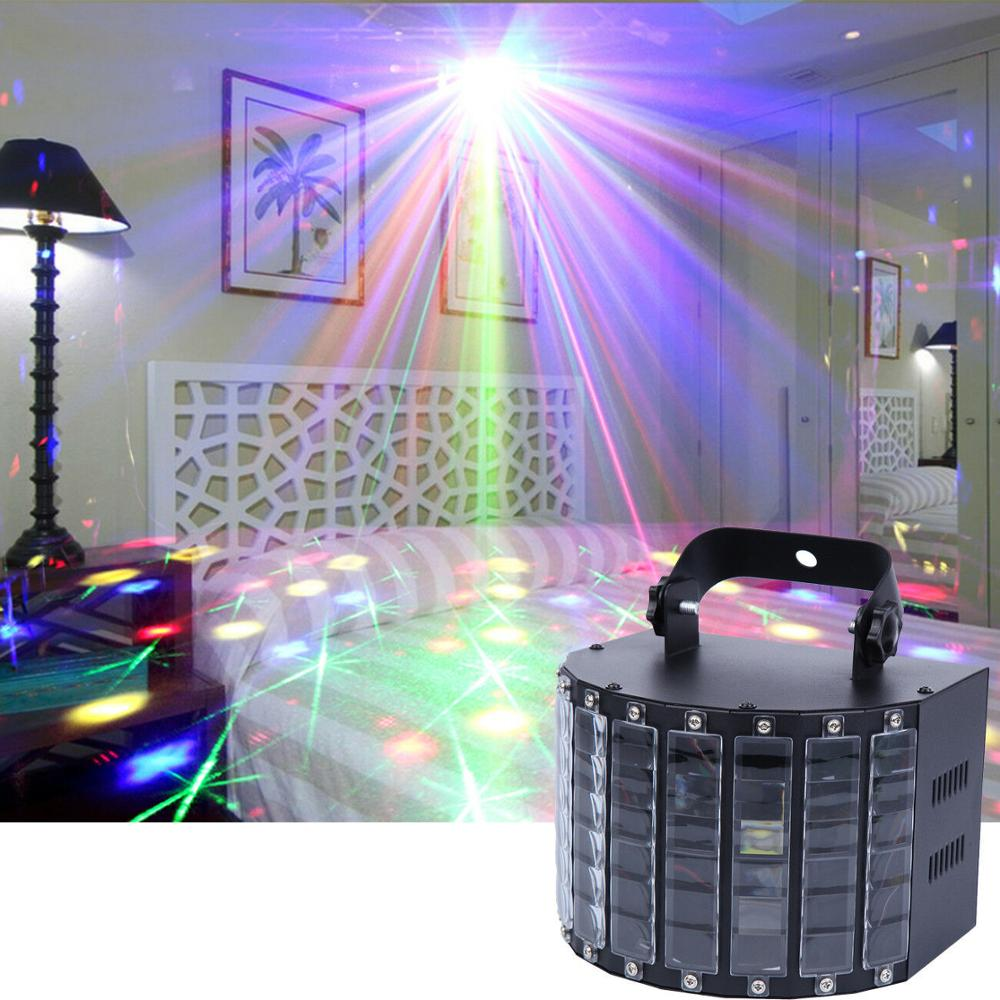 Yonntech 9 Colors LED Stage Lights Effect Butterfly RGB Auto Sound Party Xmas