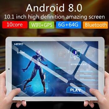 NEW 10 inch Tablet Pc Quad Core Original Android 8.0 6GB RAM 64GB ROM IPS Dual SIM Phone Call Tab Phone pc Tablets|Tablets| |  -