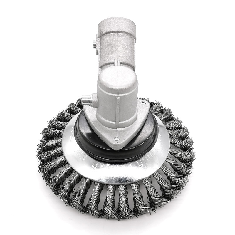 Grass Trimmer Head Mower Steel Wire Wheel Brush Alloy Weeding Tray Scraper Removes The Grass Root Weeder Grass Cutter Parts