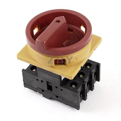 AC 660V 32A ON/OFF 2-Position 3 Phase Rotary Cam Changeover Combination Switch