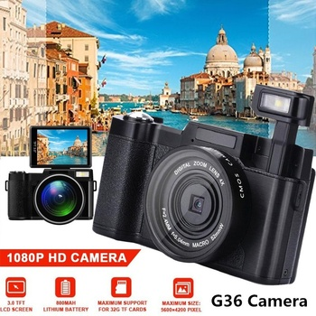 Cewaal G36 3 Inches LCD 1080P 16M Pixel Shooting DV USB Camera Photography Digital Camcorder Small Recorder Video Vlog Camera