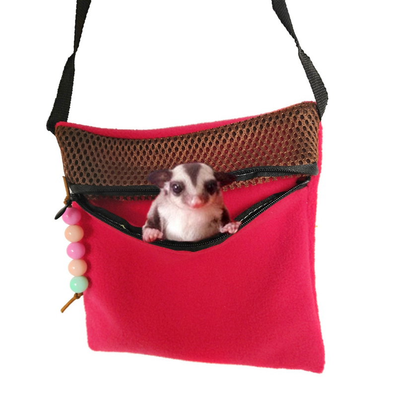 Hamster Travel Carrier Bag Small Pet Hamster Travel Warm Bags Cages Portable Sleeping Bed Mesh Packet Zipper Pouch For Hamster