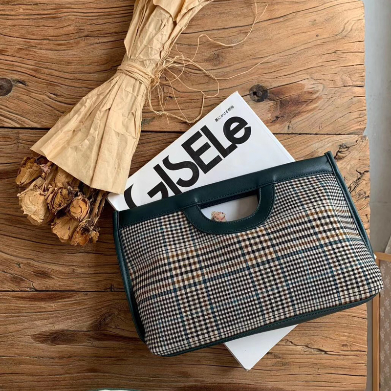 2020 Winter New Small Women Handbag Korean Style Ladies Handbag Check Crossbody Shoulder Bag Swallow Gird Plaid Young Clutch Bag
