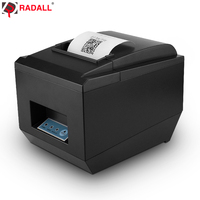 RD 8250 80mm thermal pos receipt printer with auto cutter Black And White Style USB/LAN/Series/WIFI/Bluetooth Interface Type