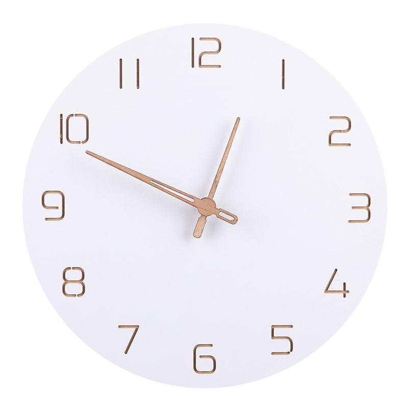 Nordic 3D Wooden Large Wall Clock Modern Design Home Decor Bedroom Silent Oclock Nixie Watch Wall Kids Clock For Children Room