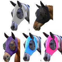 Met-Cover Masker Bescherming Elastische Gezicht-Care Paard Vliegen Oren N3Z7 Anti-Muggen