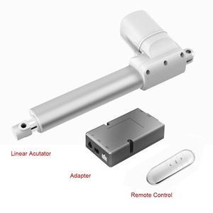 Пользовательский линейный привод с адаптером дистанционного управления без открытия питания 6000N Ход 50 мм ~ 400 мм подъемный линейный двигате...