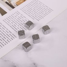 5pcs 13mm Metal Dice Gold/Silver Solid Heavy Dice Bar Night Club Party Drinking DND Game Dice 652D
