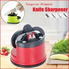 Knife Sharpener Safe Knife Scissors Blade Tungsten Diamond Grinder Stone Kitchen Sharpener Knives Sharpening with Suction Pad