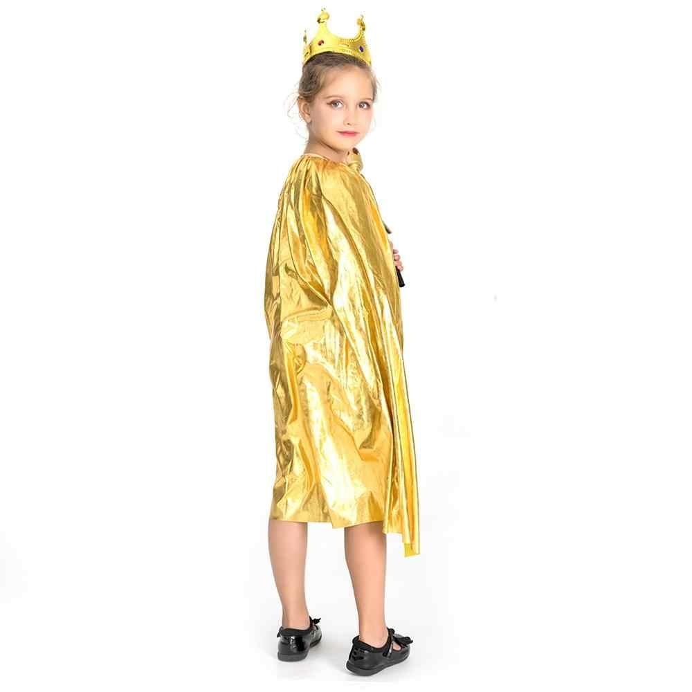 Хэллоуин пять звезд костюм монашки волшебный плащ детский сад ведьма Горячий Золотой карнавальный костюм зомби плащ Fate Косплей