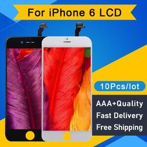 Image 1 - 10 ピース/ロット品質aaa iphone 6 lcdディスプレイタッチスクリーンデジタイザアセンブリの交換液晶pantalla 4.7 送料無料dhl