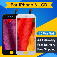 10PCS/Lot Quality AAA for iPhone 6 LCD Display touch Screen Digitizer Assembly Replacement LCD Pantalla 4.7 free shipping DHL