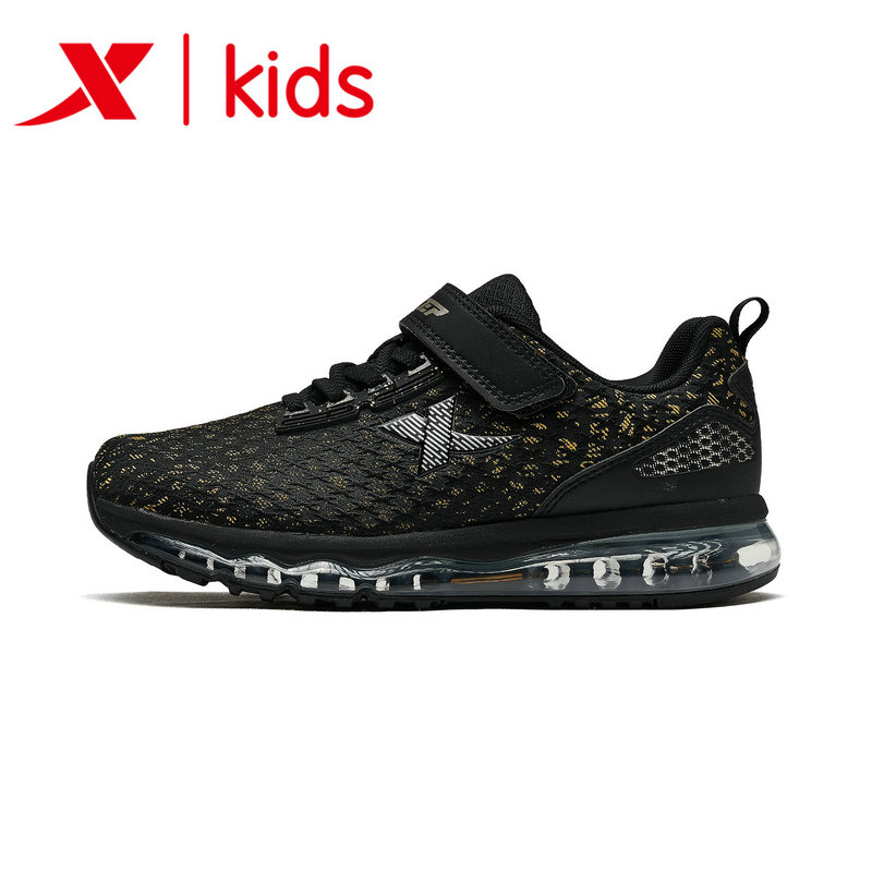 Xtep Fashion Boy Sports Shoes Kids Running Shoes Breathable Mesh Velcro Sport Shoe Kids Sneaker Size 32-40 682315119070