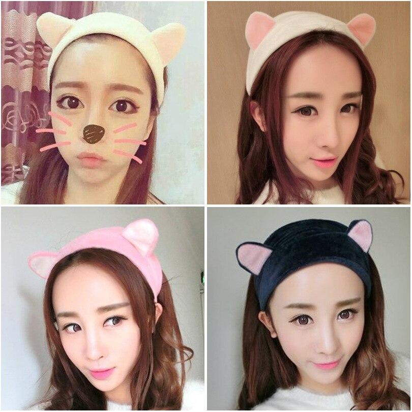 Coreano dell'orecchio di modo del gatto della fascia di Yoga delle donne lavare il viso di trucco dei capelli della fascia accessori produttore all'ingrosso