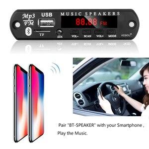 Image 5 - KEBIDU Bluetooth5.0 MP3 WMA ถอดรหัสบอร์ด 5V 12V โมดูลเสียง USB TF วิทยุเพลงรถยนต์ MP3 ผู้เล่นด้วยรีโมทคอนโทรล