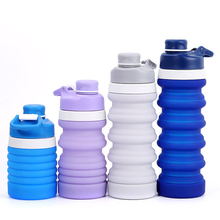купить 750ML Portable Silicone Water Bottles Travel Outdoor Sport Retractable Folding Lead Proof Bottle Collapsible Drinking Bottles дешево