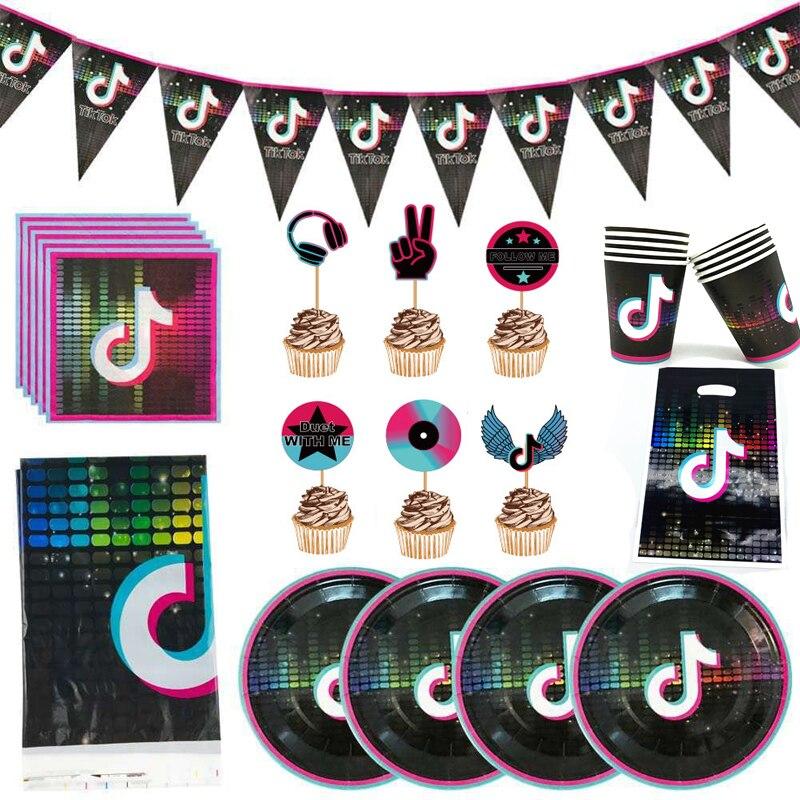 85 шт./лот видео тема баннер для торта на день рождения вечерние салфетки флаги пластин чашки украшения Дети сувениры подарки сумки скатерть