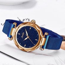 2019 Fashion Sederhana Berlian Kuarsa Wanita Jam Tangan Tahan Air Jam Tangan Wanita Magnet Dress Gelang Jam Top Brand Luxury Watch(China)