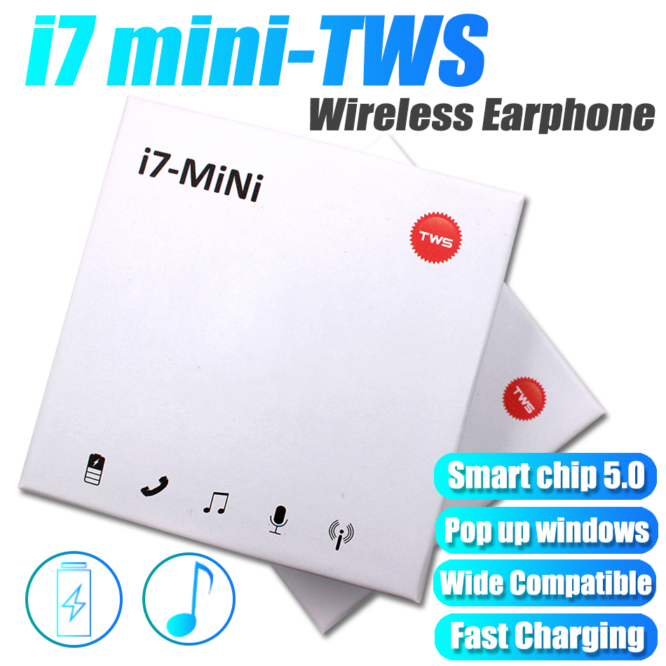 Acespower Cheap I7 Mini TWS Earphone Box Packing Wide Compatible Smart Wireless Bluetooth Headphone Pop Up Window Earpiece Gift image