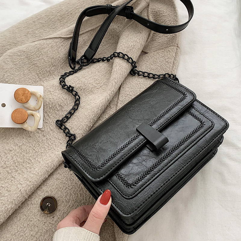 European Vintage Fashion Female Square Bag 2020 New High Quality PU Leather Women's Handbag Simple Casual Shoulder Messenger Bag