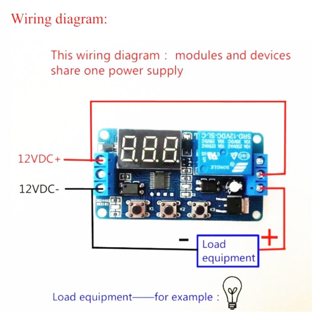 DC 12V светодиодный цифровой реле задержки времени цикл запуска таймер переключатель задержки монтажная плата Регулируемый Модуль управления временем|Реле|   | АлиЭкспресс