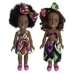 Кукольные игрушки для девочек, подвижная африканская кукла для девочек, черная кукла, лучшие подарки, игрушка 2021, Кукла шарнирная