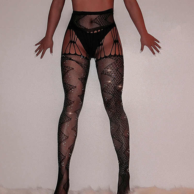 2020 Visnet Diamant Panty Vrouwen Sexy Fashion Shiny Panty Vrouwelijke Slanke Strass Mesh Nylon Kousen Transparante Panty
