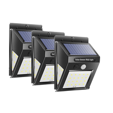 30 светодиодов солнечный светильник pir датчик движения настенный
