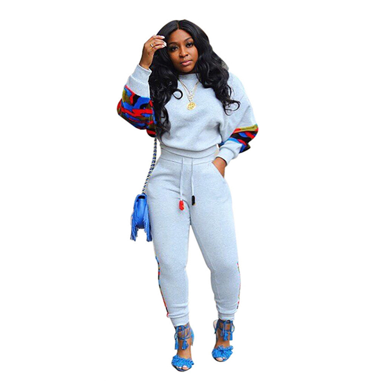 New Stylish Leopard Side Stripe Jogger Suits Outfits 2019 Womens Outfit Clothing 2 Piece Set