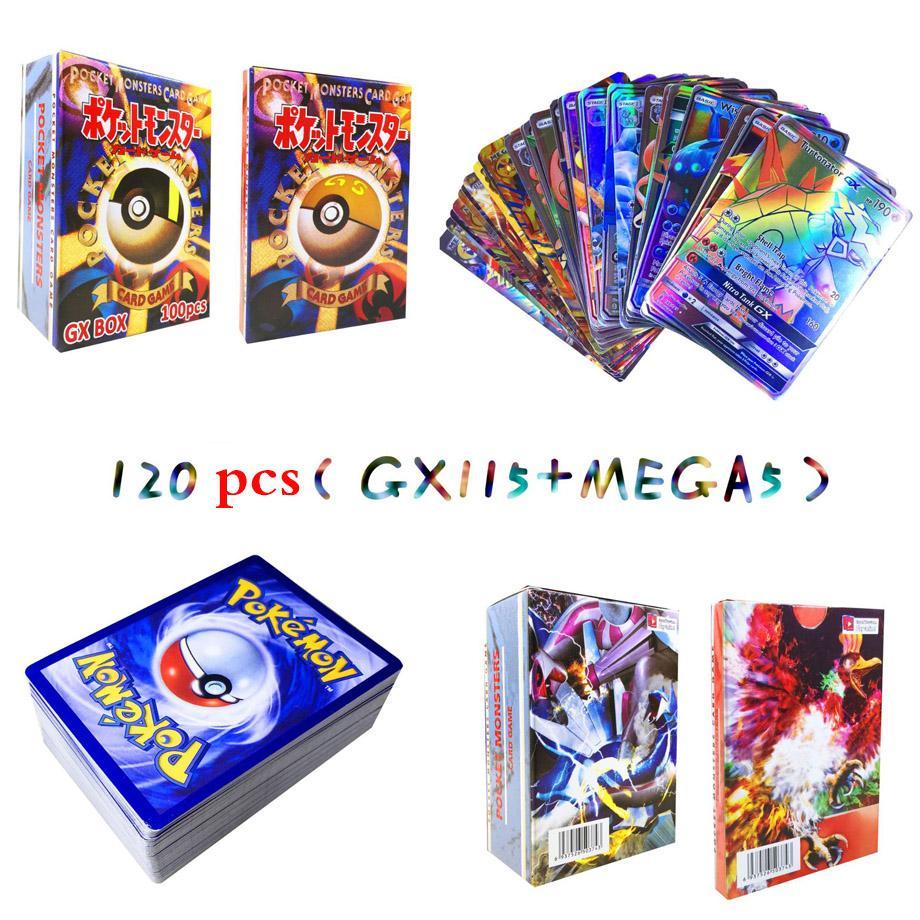 New 200 Pcs 25 70 120 Pcs POKEMON CARDS GX MEGA EX Shining TAKARA TOMY Cards Game Battle Carte Trading Cards Game Children Toy