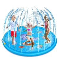1PC Cartoon Inflatable Cushion PVC Baby Kids Spray Water Game Pad Outdoor Lawn Children Play Water Mat Boys Girls Summer Gifts