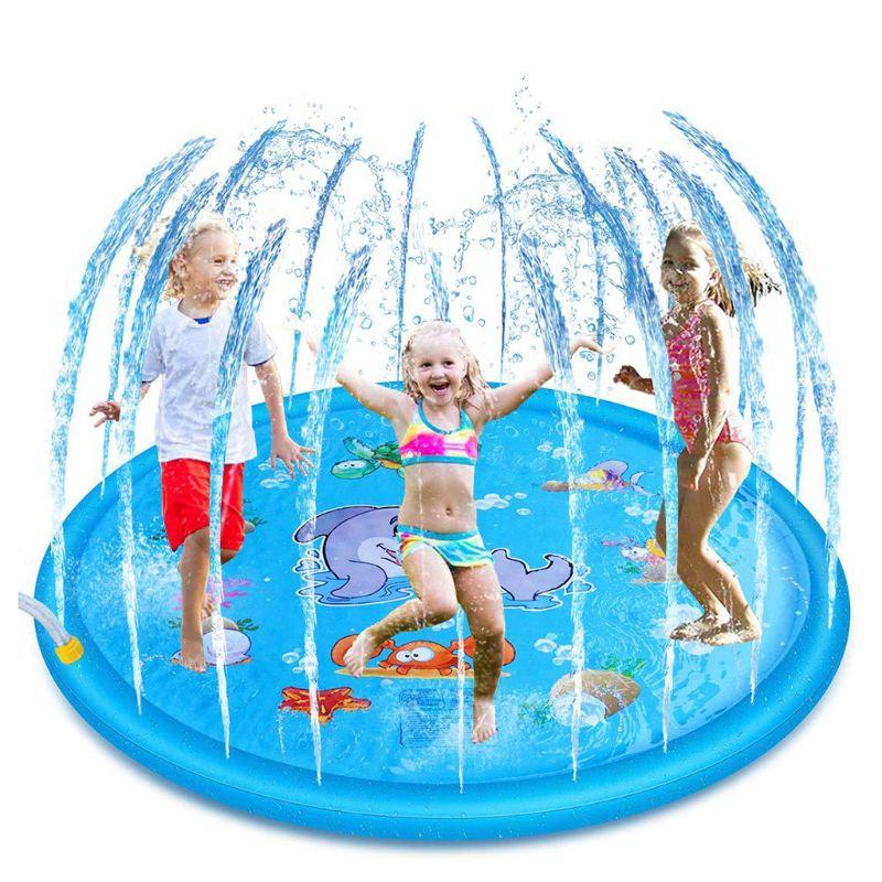 1PC dessin animé gonflable coussin PVC bébé enfants pulvérisation eau jeu Pad extérieur pelouse enfants jouer tapis d'eau garçons filles cadeaux d'été