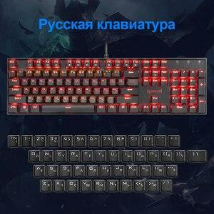 Image 3 - Redragon Mitra K551 USB mekanik oyun klavye mavi anahtarı DIY 104 anahtar arkadan aydınlatmalı PC Gamer rus klavye tuşları veya İspanyolca Sticker