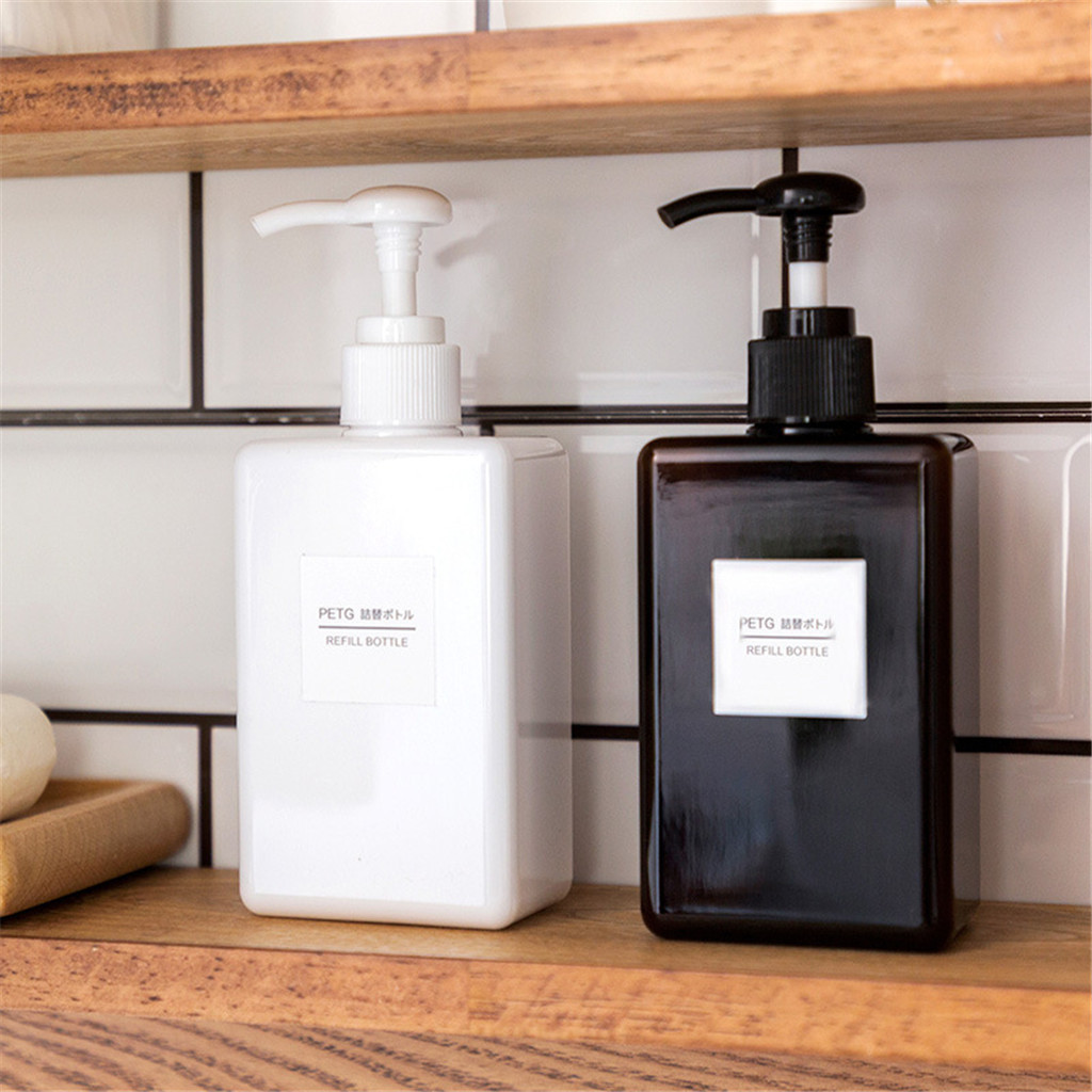 2PC 100ml Soap Dispenser Bottle Hand Sanitizer Gel Bottle Bathroom Shampoo Lotion Containers Press Empty Bottles Dispensador J80