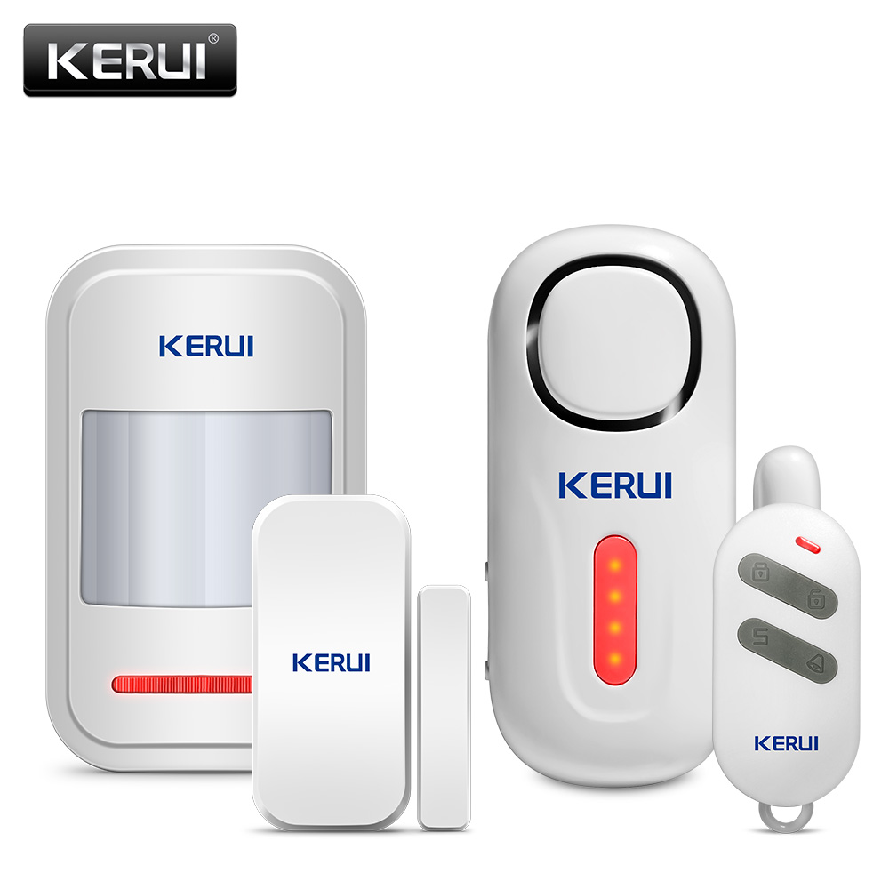 KERUI sans fil porte/fenêtre entrée sécurité cambrioleur capteur alarme PIR porte magnétique système d'alarme sécurité avec télécommande