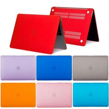Solid Coque for MacBook Pro Retina 12 13 15 Laptop Case A1398 A1502 Matte PVC Cover for Mac book Air Pro Retina 11 12 13 15 Case цена 2017