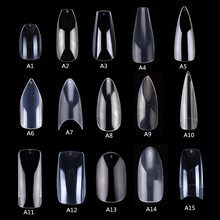 Makartt, 500 шт., накладные ногти в гробу, прозрачные натуральные ногти, накладные акриловые ногти, полностью покрытые, ногти балерины, пресс для ногтей