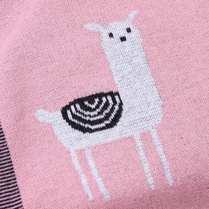 Image 5 - Baby Bed Knitted Blanket Alpaca Newborn Swaddle Wrap Soft Infant Toddler Sofa Bedding Sleeping Blankets Baby Stroller Accessory