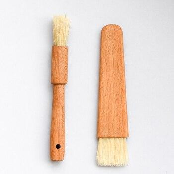 De Madera de BBQ cepillo de hilvanado pastel para hornear pan pasteles de platillo cariño cepillos para mantequilla barbacoa utensilios domésticos de cocina para hornear