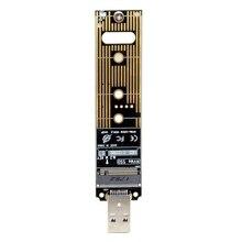 HOT-M.2 Nvme Ssd на Usb адаптер, M.2 Ssd на карту типа a, высокая производительность 10 Гбит/с Usb 3,1 Gen 2 мостовой чип, использовать в качестве портативного Ss
