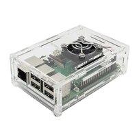 4 in 1 Raspberry Pi 3 Model B+ Board + acrylic Case + Cooling Fan + Heat Sink Kits / Starter Kit