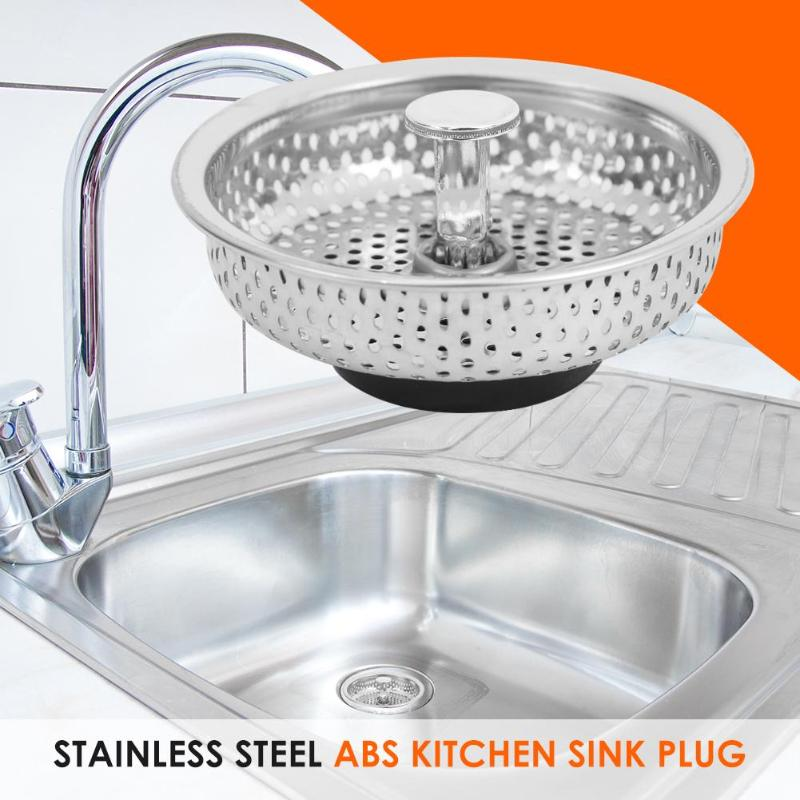 Stainless Steel Mesh Kitchen Sink Plug Filter Cover Bathroom Basin Drainer Drain Stopper Filter Kitchen And Dining Bar Accessory