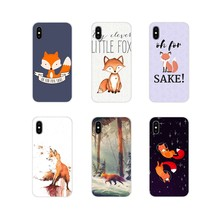 Para iPhone X de Apple XR XS 11Pro MAX 4S 5S 5C SE 6 6S 7 7 Plus ipod touch 5 6 cubiertas de los casos del teléfono Oh para Fox amor(China)