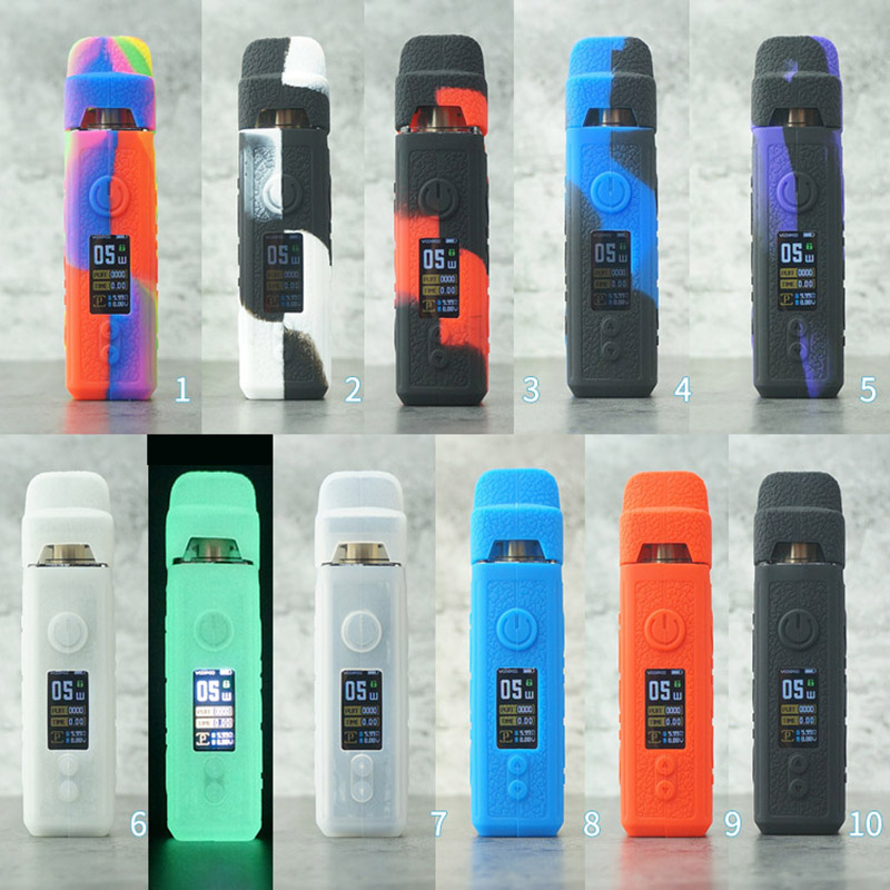 Protective Silicone Case Cover Shield Wrap Sleeve Skin With Free Lanyard Sling For VOOPOO VINCI Pod Kit